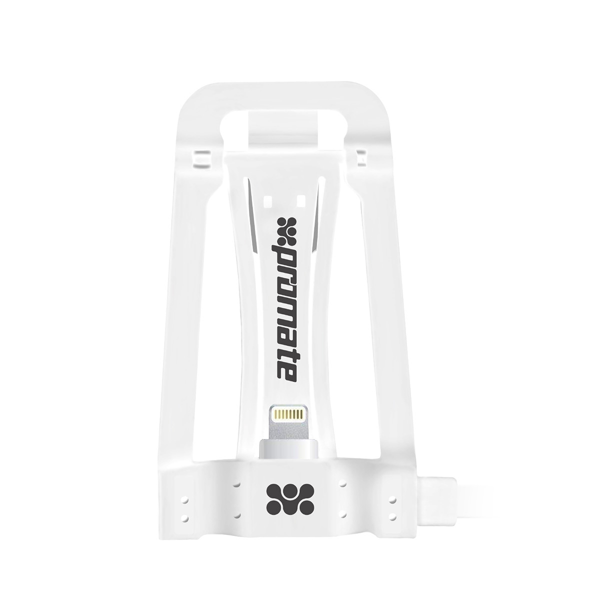 Кабель c подставкой Promate Pose-LT Lightning-USB 1.15 м White