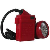 Светильник шахтный sx-0016, светодиодный фонарь на каску, коногонка, 1 диод, навесной аккумулятор 5000 mah