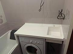 Столешница в ванную с мойкой из LG S034