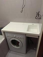 Столешница в ванную с мойкой из LG S034, фото 2