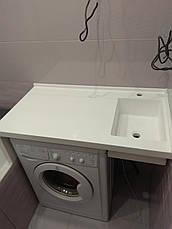 Столешница в ванную с мойкой из LG S034, фото 3
