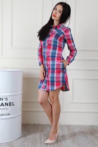 Красивое женское рубашечное платье