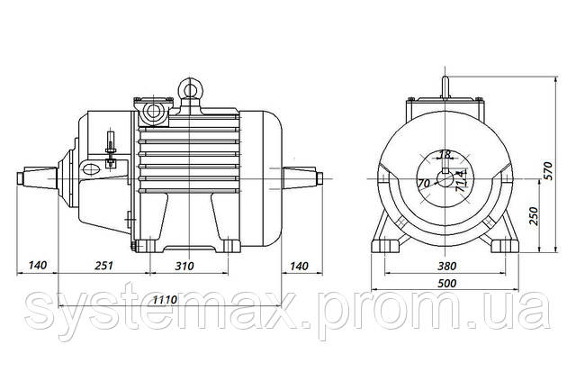 МТН 611-6 - IM1004 комбинированный (габаритные и установочные размеры)