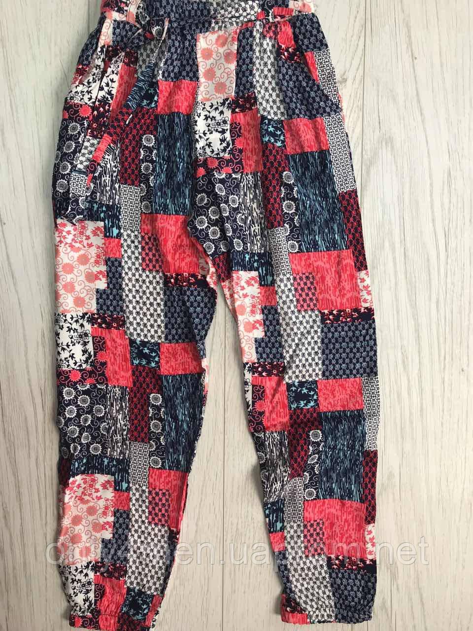 Штаны цветные для девочек. 116-152 р.