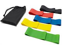 Резинки для фитнеса и йоги 30 см / Набор резинок для фитнеса и йоги 5 шт. / Фитнес резинка / Спорт резинка