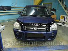 Дефлектор капота (мухобойка) Hyundai tucson (хюндай туксон) 2004-2009
