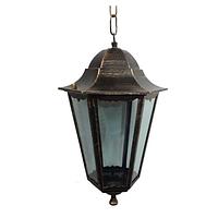 Подвесной садово-парковый фонарь PL6105 античное золото, Е27 металл