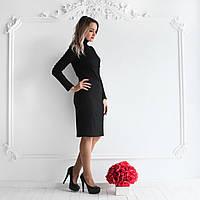 Силуэтное платье-гольф для кормления - Чёрный