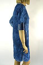 Летнее джинсовое платье с сердцем из пайеток Ezra, фото 3