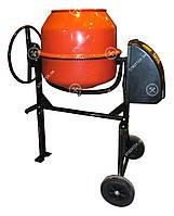 Венцовая бытовая бетономешалка для дома Оранж 2125 Бетоносмеситель 125 литров 550 Вт с чугунным венцом