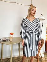 Коттоновое платье в полоску