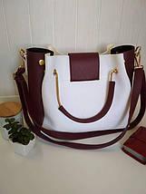 Женская сумка с металлическими ручками, фото 3