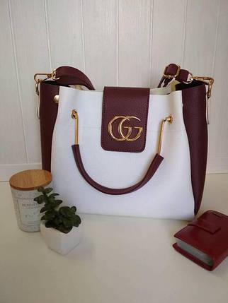 Женская сумка с металлическими ручками, фото 2