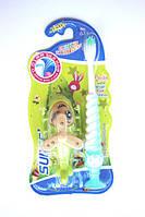 Зубная щётка детская для мальчиков + игрушка вертолёт