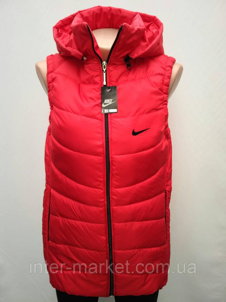 244eafb7b61d09 Женская Спортивная Жилетка в Стиле Nike на Замке Красная — в ...