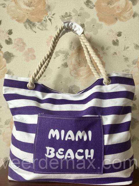 Женская пляжная сумка Miami Beach ( в полоску)