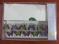 Шторки в ванную комнату Arya Butterfly 180х180 с бабочками