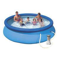 Семейный надувной бассейн Intex, 28132 (56422) (366*76 см) с насосом