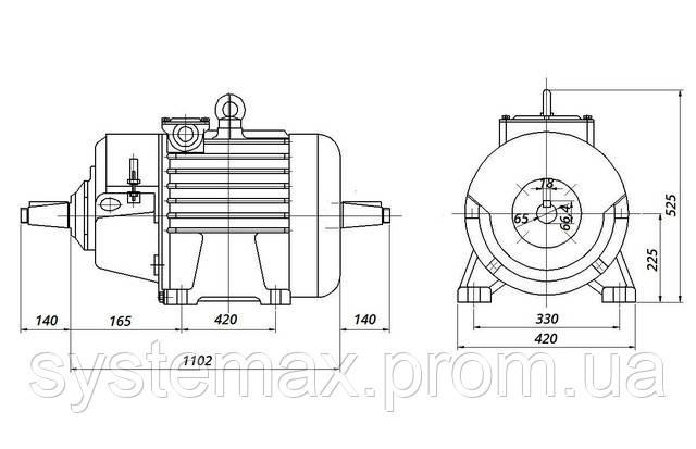 МТН 412-8 - IM1004 комбінований (габаритні і настановні розміри)