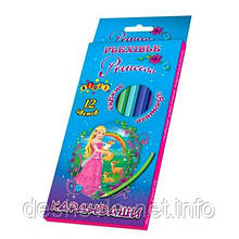 """Карандаши """"Princess world"""", Kidis, гибкие, 12 цветов"""