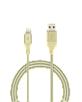 Кабель Promate Cable-LTF Lightning Gold, фото 4