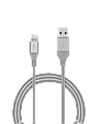 Кабель Promate Cable-LTF Lightning Silver, фото 2
