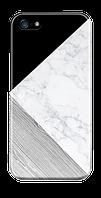 Чехол дляiphone 5 / 5s / 5se тройной мрамор(черный)
