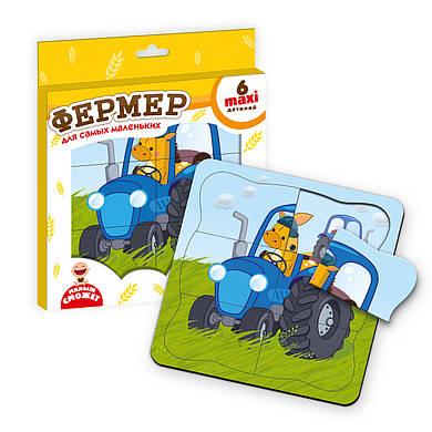 Пазл-рамка «Лошадка-фермер», Vladi Toys
