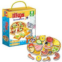 Игра магнитная «Пицца», Vladi Toys