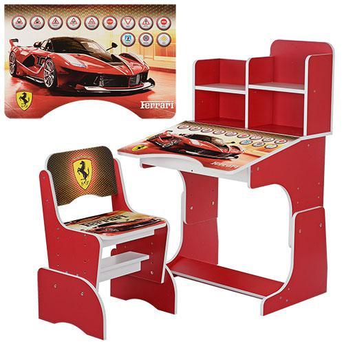Парта детская со стульчиком W 2071-20 Гонки Ferrari. Гарантия качества. Быстрая доставка