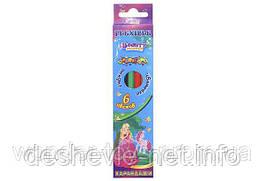 """Карандаши """"Princess world"""", Kidis, гибкие, 6 цветов"""