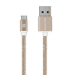 Кабель Promate linkMate-U2M USB-microUSB 1.2 м Gold