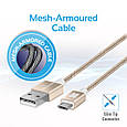 Кабель Promate linkMate-U2M USB-microUSB 1.2 м Gold, фото 2