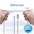 Кабель Promate linkMate-U2M USB-microUSB 1.2 м Silver, фото 3