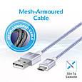 Кабель Promate linkMate-U2M USB-microUSB 1.2 м Silver, фото 8
