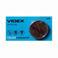 Батарейка литиевая Videx CR2450 3V 5pcs blister card 100 шт/уп