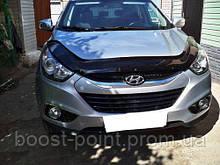 Дефлектор капота (мухобойка) Hyundai ix35 (хюндай их/ай-икс 35) 2010+