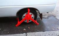 Блокиратор колеса легкового автомобиля