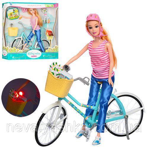 Кукла с Велосипедом Велосипед шлем цветы продукты, BYL608-1, 007700