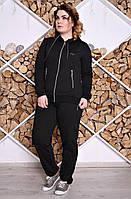 Спортивный костюм женский большого размера №200, (2цв), трикотажный костюм большого размера