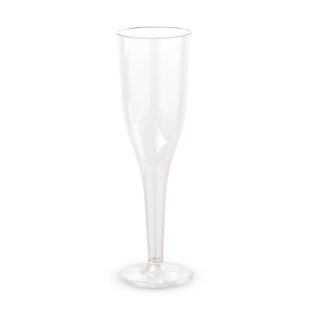 Бокалы для шампанского Bonita пластиковые 6 шт 130 мл прозрачные