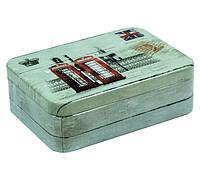 Металлический контейнер для сыпучих Винтаж Лондон, 75г ( коробочка для чая )