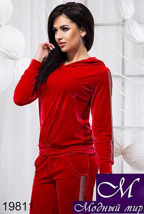 f07caa47 Женский красный велюровый спортивный костюм — купить в интернет ...