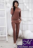 Женский бежевый велюровый спортивный костюм (р. 42 99ab0b58b1513