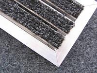 Грязезащитная алюминиевая решетка  «Лен» наполнение (текстиль)