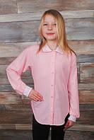 Блуза детская( софт+ гипюр) на рост: 116-146 см