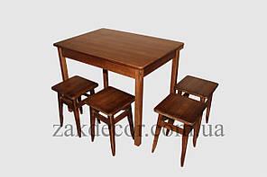 """Стіл """"Стандарт"""" 1000х700(бук) стіл+3 табуретки - четверта -безкоштовно."""