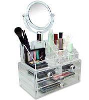 Органайзер для зберігання косметики з дзеркалом JN-870, фото 1