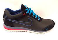Кроссовки мужские Nike замшевые/кожаные натуральные черные Ni0098