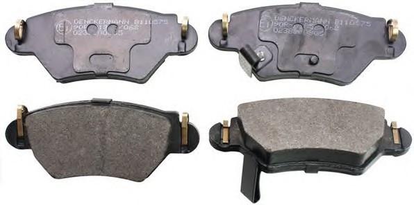 Тормозные колодки задние Opel Astra G 98- 2.0I, DI 16V / Zafira ( дисковые)